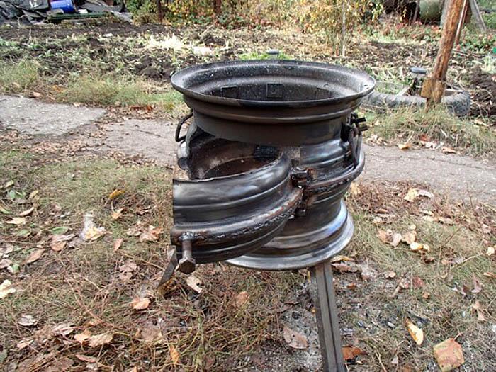 фото печки из дисков