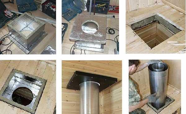 Монтаж дымохода через крышу фото крепления для растяжек дымохода