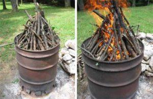 Печь для угля своими руками