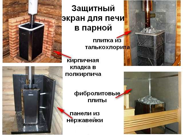 Как выбрать защитные экраны для банных печей?