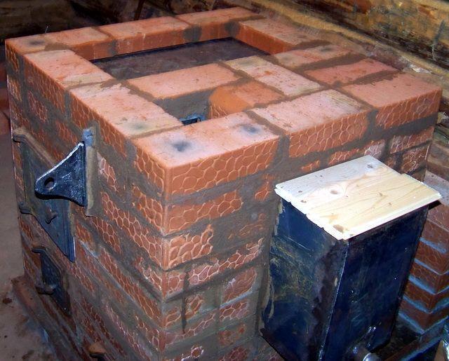 Секреты печников кирпичная печь для бани варианты с закрытой каменкой с баком для воды